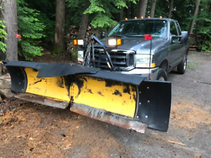 2002 Ford F-250 Lariat Pickup Truck with V-Plow