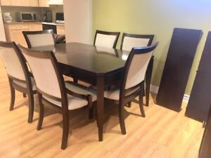 Dining set (table, 6 chairs and server)