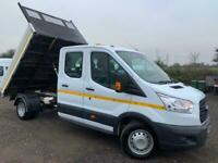 FORD TRANSIT CREW CAB TIPPER ULEZ COMPLIANT LOVELY TRUCK LOW MILEAGE