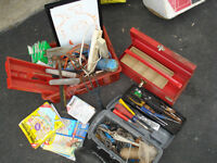 BOX TOOL AND TOOLS BBQ GRIL,CABLES,EVERY THING MUST GO ONE PRICE