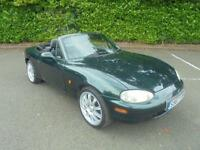 S REG Mazda MX-5 1.8i CONVERTABLE 5 SPEED IN METALIC GREEN