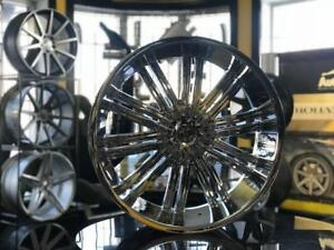 MAGS CADILLAC ESCALADE LINCOLN FORD GMC 24'' CHROME NEUFS / ENSEMBLE AVEC PNEUS DISPONIBLE