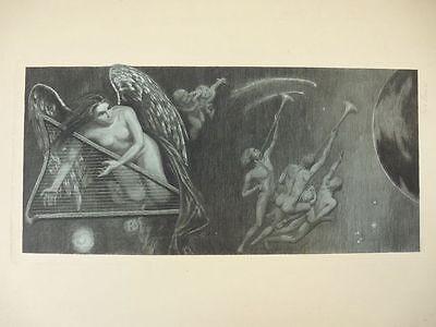 """Radierung um 1900 """"Symphonie Finale"""" Clara Hensel (1868 - 1942)"""