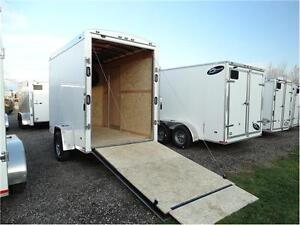 Extra High Enclosed Trailer with Ramp: 7 foot high