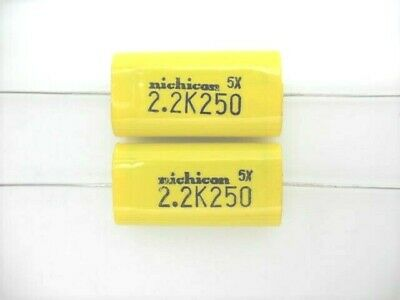 2 X - 2.2uf 250v Metallized Polyester Film Capacitor For Audio Crossover Tweeter