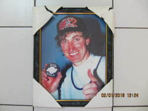 Classic Wayne Gretzky 10 x 13 inch Framed Picture Circa 1980s