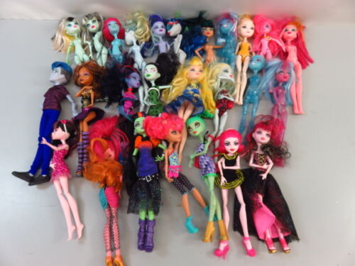 5+ Lb Bulk Lot of Loose, Assorted, Mattel Monster High Dolls - LOT