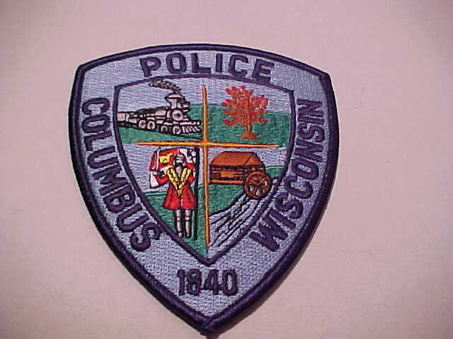 COLUMBUS WISCONSIN POLICE PATCH SHOULDER SIZE UNUSED