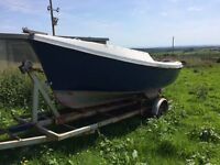 fishing boat 17ft Rock Hopper Inboard Diesel Engine
