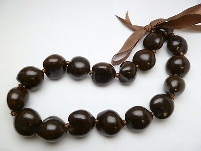 Hawaii Wedding/Graduation Kukui Nut Lei Luau Hula Jewelry Necklace~31002 (QTY 2)