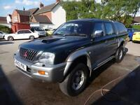 MITSUBISHI L200 2.5TD 4LIFE 4WD~03/2003~CREWCAB~5 SPEED MANUAL~5 SEATS~CANOPY