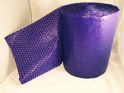 25 Feet X12 Inches X316 Small Bubbles Purple Color Bubble Wrap Roll Bubblewrap