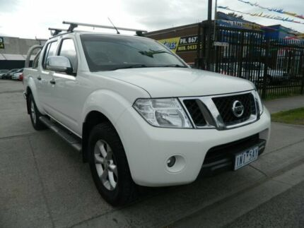 2011 Nissan Navara D40 Series 4 ST-X (4x4) White 6 Speed Manual Dual Cab Pick-up Williamstown North Hobsons Bay Area Preview