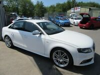 Audi A4 TDI S LINE SPECIAL EDITION 4d 141 BHP full service history (white) 2010