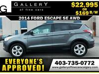 2014 Ford Escape SE AWD $169 Bi-Weekly APPLY TODAY DRIVE TODAY