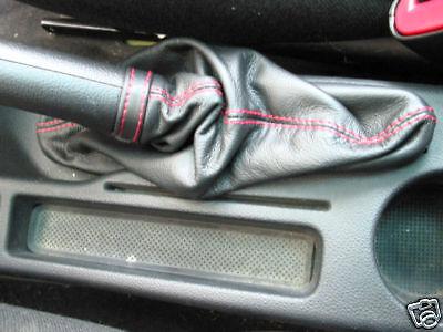 Alfa Romeo Gt Bolsa Freno Mano Creado Cuero Negro Costuras Rojas