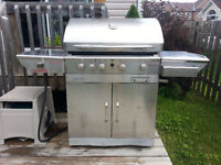 Natural Gas Centro Stainless Steel BBQ w rotisserie & sear zone
