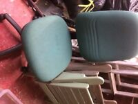 Green comfortable swivel office chair