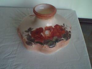 """Original Antique Aladdin 201 Painted Shade 10"""" Diameter"""