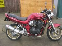 SUZUKI GSF 1200 V BANDIT-NAKED LATE 1996 MODEL-LOW MILES-SUPERB CONDITION-MOTed