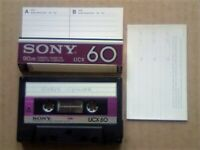 A2Z RARE GUARANTEED SONY UCX 60 PREMIUM CHROME CASSETTE TAPES 1982-84 W/ CCLs & FREE P&P