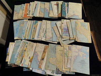 Huge Lot of 136 National Geographic Magazine Maps Supplements 1961 - 2005  F