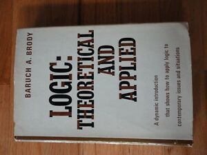 Logic Theoretical and Applied Hardcover Book London Ontario image 1