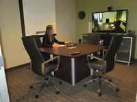 Rent a 4 Person Boardroom that Hosts Video Conferencing