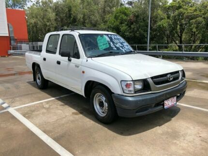 2004 Toyota Hilux RZN149R White 5 Speed Manual Dual Cab Pick-up Morayfield Caboolture Area Preview