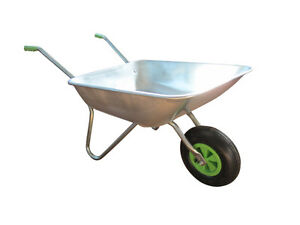 Wheelbarrow Garden Wheel Barrow , Galvanised  with Pneumatic Tyre