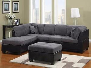 ELEPHANT SKIN SECTIONAL ON SALE!!! AT BEST END FURNITURE STORE LONDON ONTARIO