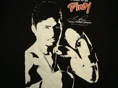 Manny Pacquiao Proud To Be A Pinoy Gma Tv Boxing Legend Black T Shirt M