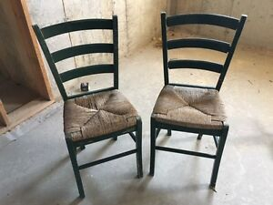 2 Antique Cane Chairs For Sale - $40