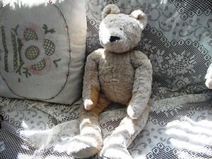 "24"" SANDY BEIGE SOFT FURRY GANZ TEDDY BEAR, TAG"