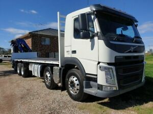2014 Volvo FM410 805 Twin Steer Extended Chass White Crane Truck Homebush West Strathfield Area Preview