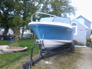 REDUCED  1979 Silverline Boat 22' for sale with trailer.