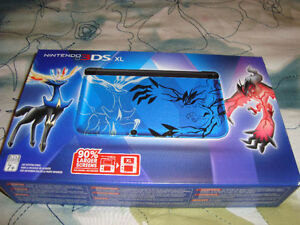 3DS XL POKEMON X Y XERNEAS BLUE LIMITED EDITION NEW + CASE