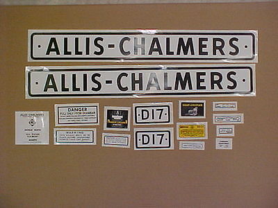 Decal Set For Allis Chalmers D17 Decal Set Tractor