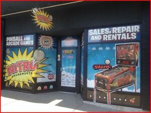 NITRO PINBALL Sales,Service & Restoration 35+ Yrs Exp.