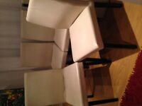 Habitat Oslo Leather Dining Chairs x 4