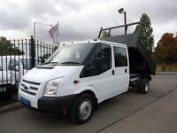 2014 FORD TRANSIT 2.2 TDCI EURO 5 T350 DOUBLE CAB TIPPER DRW