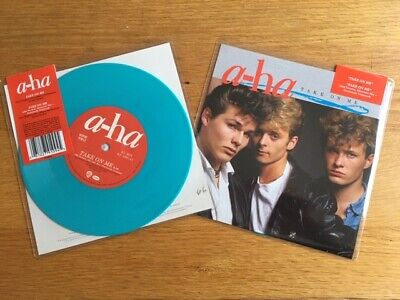 """A-ha Take On Me new and sealed 7"""" limited edition blue vinyl Morten Harket"""