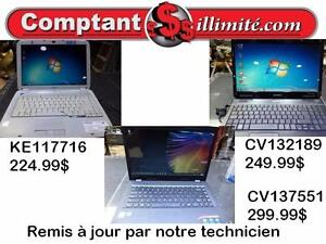 Un portable pret pour Internet et Bureautique Chez Comptant illimite.com 819-566-3333