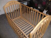 Wooden Childs Cot - As new