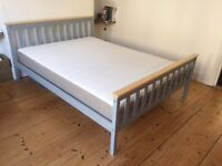 Double Bed + Mattress (6 months old) like new