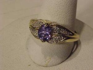 #1321 14K TANZANITE & DIAMONDS ~SIZE 7~ **JUST BACK FROM APPRAISAL AT $1525.00 SELLING FOR just $475.00**