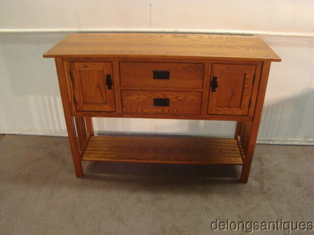 54104: Stickley Style Mission Oak Sideboard
