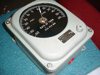 Vintage Sperry Rate of Turn Indicator P/N: 03956-1858105