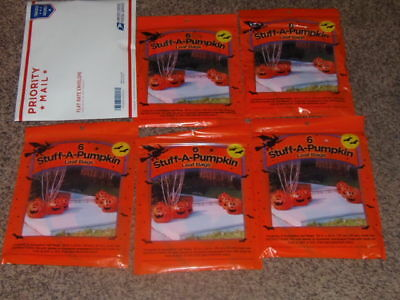 5 PACK OF 6  Halloween Lawn Leaf Bags Stuff- A- Pumpkin    30 TOTAL  (PO-2)
