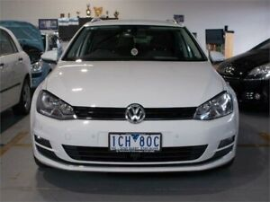 2014 Volkswagen Golf AU MY15 110 TDI Highline White 6 Speed Direct Shift Wagon Fyshwick South Canberra Preview
